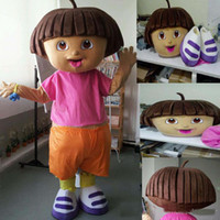 Wholesale Hot sale Adult cute Dora Explorer Cartoon Mascot Costume fancy dress costumes