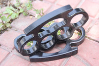 Wholesale New ARIVAL Black THICK STEEL BRASS KNUCKLES DUSTER BUCKLE Free Drop shipping