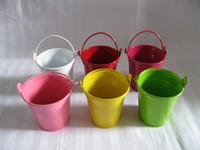 Wholesale Birthday party favor wedding favor Decorative planter bucket tin box Iron pots favor holders for wedding bridal shower kids birthday party
