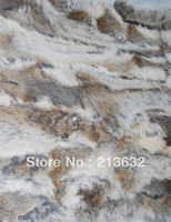 Wholesale Luxury stuff leather rabbit real fur cheap and good quality Garment Textile accessories material rabbit fur skin