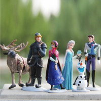 Wholesale Retail Frozen olaf Toys Duplex keychain cm decoration double size doll figure toy gift Anna Elsa Hans Sven Olaf Cake Topper