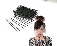 Wholesale 2014 new fashion Black BROWN Plated Thin U Shape Hair Bobby Pin Black Metal Clips DIY Barrette HAIRPINS