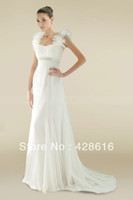 Other Reference Images Sweetheart Wedding Dress 2014 New Grecian Style Column Beaded Waistband Train Custom