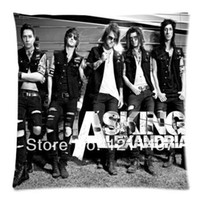 ask hotel - Hot Sale Asking Alexandria Rock Band Personalized x18 Throw Cushion Cover Pillow Cases for Home Textile Sofa Bedding Couch