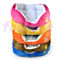 Wholesale Pets Bed For Dog Puppy Cat Pig Soft Fleece Warm Bed House Plush Cozy Nest Mat Pad Large Size Five Colors