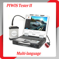 Wholesale 2014 Top rated Newly DHL Multi langauge Allscanner VCX Piwis Tester II with laptop with software retail