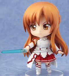 """Аниме искусство Онлайн-Японское аниме Sword Art Online Асуна ПВХ Симпатичные Nendoroid 4 """"Изменить движения и выражения фигурка"""