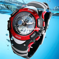 Wholesale Fashion Children Watches Dual Time Digital Quartz Multifunctional m Waterproof Swim Student Sports Watch COLORS