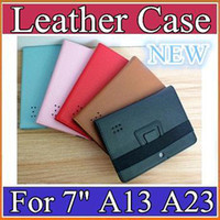 7'' other other SH MID 7inch Leather Case Cover stand holder and bandage for 7inch Tablet PC AllWinner A13 A23 A31S A20 Q88 EBOOK PT07-5