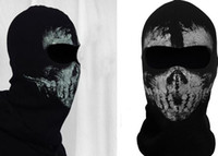 Costume Accessories black cod - Call of Duty GHOSTS COD hat Costume Cosplay balaclava specter full face mask cycling ski sports hood cap wargame helmet props BLACK EMS