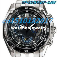 Wholesale EF RBSP AV New Chronograph Mens Watch EF RBSP with Stopwatch function Original box