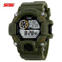 achat en gros de horloge numérique multifonctionnel-Commerce de gros de Skmei Marque de Montre Militaire Décontracté LED Montre Numérique Multifonctionnel Montres-bracelets 50M Imperméable Hommes Montres de Sport Étudiant de l'Horloge
