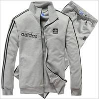 Wholesale HOT New Men s Sport suit Casual clothes jacket Pants set arrival MOQ PC More colors Tracksuit Costume A42