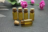 Tester perfume Prix-Livraison gratuite Verre gros Bottle Of Wishes Flacons à parfum Cork Bois 1ml mini flacon en verre, échantillon de parfum flacon, testeur bouteille
