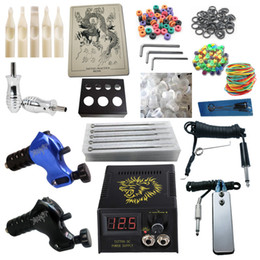 Wholesale Top Tattoo Kit Beast Rotary Machine Guns Power Supply Needles Grips Tips Tattoo Kits RK2