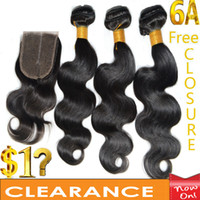 Wholesale Clearance Sale Buy Hair Bundles Get Free Closure Affordable A Best Virgin Brazilian Hair Extensions Dyeable Washable Accept Returns