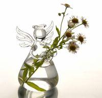 Glass flower vases - Glass vases Home decoration angel flower vases wedding decoration birthday gift decorative vases home Party Decoration vaso flower pots