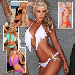 2016 Fashion Sexy Women Bikini New Beach Tassels Bikini Sheer Sexy Micro Bikini Adult Ladies Swimsuit Beachwear Bathing swimwear BK1