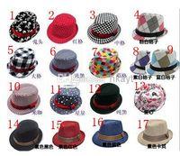 Unisex cowboy hats kids - 2014 Fashion Various Pattern Baby Fedoras Kids Cowboy Hat Fedora Hats for Children Baby Sun Hat Jazz Cap Kids Top Hats styles