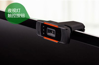 Wholesale Camera with microphone mic desktop computer notebook drive free HD video head AF High speed no smear