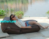 Wholesale Original Outdoor buggle up bean bag chair Garden beanbag external seat home furniture Multifunction Giant Bean lounge sac DARK BROWN