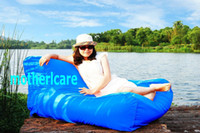 Wholesale Extra Large floating bean bag chair Float on water Relax on Land NEWLY pool side water floats Summer swimming lounge Pacific Blue