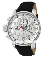 Wholesale Invicta Men s Force Lefty Second Chronograph White Dial Black Leather Watch