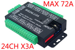 Wholesale 24 CH Easy dmx512 dimmer Controller CH DMX decoder each channel Max A group RGB controller Iron shell