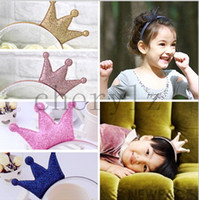 Hair Sticks accessories jewellery wholesale - Baby Toddler Crown Headbands Infant Hairband Accessories Christmas Hair Sticks Jewellery BB207