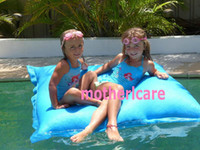 Wholesale THE BIG BAG GIANT sky blue SWIMMING POOL BEAN BAG SHELL FLOAT TOY entertainment ENJOY water sports
