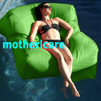Wholesale OUTDOOR LOUNGER BEAN BAG BEANBAG CHAIR Stylish Waterproof SEXY GREEN SUN LOUNGER BED float on water relax on land in function