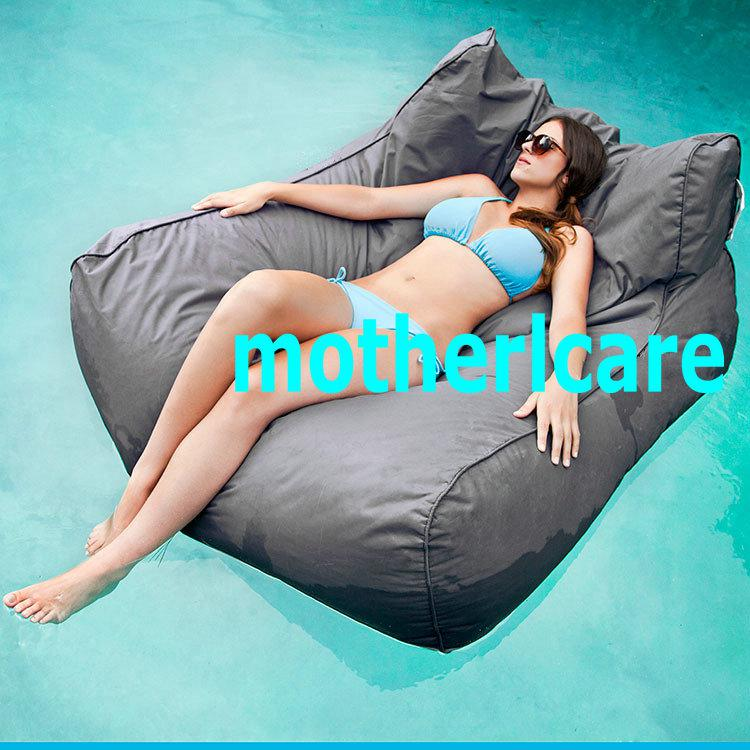 2017 outdoor lounger bean bag beanbag chair stylish waterproof sexy gray sun lounger bed float. Black Bedroom Furniture Sets. Home Design Ideas