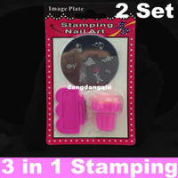 UV Gel Nail Art Set assorted images - Stamping Nail Art Kit Assorted Plates Stamp Scrapers DIY Image Plate Mix Template Stainless Steel Set