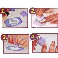 UV Gel Nail Art Set Yes  New Wholesale-Cool Lady Professional Nail Art Stamp Polish Nail DIY Kit Nail Stamping Decals