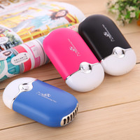 Wholesale Free DHL Cool Handheld Rechargeable Mini Bladeless Hand Held Fan Creative USB Fan conditioned portable handheld air conditioner small fan