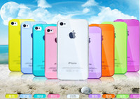 Wholesale IPhone4S mobile phone iPhone4 mobile phone protection shell silicone frame sleeve shell thin new S soft shell