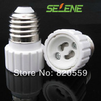 Wholesale E27 to GU10 base Holder LED Light bulb Lamp addapter convert E27 Socket Plug halogen lamp base