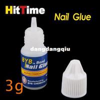 Nail Art 3D Decoration Nail Art Rhinestones Nail Gel Wholesale-3 x 3g Acrylic Nail Art Glue French False Tips Manicure [5722|01|03]