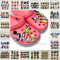 Wholesale Free DHL PVC Lovely Jibbitz Shoe Charms at random More than styles Shoe Decoration Accessories Party Favors