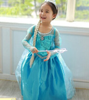 TuTu Summer Pleated New anna frozen dress kids ,2014 Anna costume cosplay blue girls dresses with cape cloak , elegant TUTU girls dress 3Y-9Y