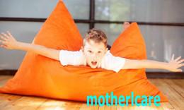 Wholesale Original Junior bean bag chair Children beanbag sofa lounge Kids sitzsack Waterproof floor cushion Orange