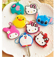 PVC key caps - Silicone Keychain Fashion Hello Kitty Keyring PVC Key Caps Covers Lovely KeyChain Case