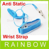 antistatic wrist strap - 100pcs lor NEW Anti Static Antistatic ESD Adjustable Wrist Strap Band Grounding Blue Free Ship