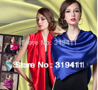 Wholesale 2014 new spring solid color Silk Square Scarf Women Fashion Brand High Quality imitate Silk Satin Scarves Shawl Hijab SC0272