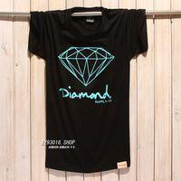 100% Cotton diamond supply co - Diamond supply co men Short sleeve T shirt casual tshirt man plus size hip hop harajuku style shirts