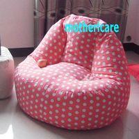 Living Room Sofas adult beanbag chair - ADULTS Computer bean bag chair High back support beanbag lounge PINK POLKA
