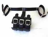 Wrist & Ankle Cuffs arm binder - gunine leather bondage restraints handcuffs arm binder bdsm sex toys for women slave trainer adult products black XLY718