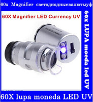 best microscopes - HOT Best Seller Pocket X Magnifier Microscope Loupe LED Currency UVwholesale top sale