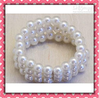 Wholesale Shiny Round Pearls Napkin Rings For Wedding Favor Supplies Party Table Decoration Accessories Top Quality