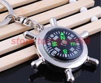 Wholesale 30pcs creative rudder compass mountaineering Keychain metal customized multifunctional fashion Keychain GX